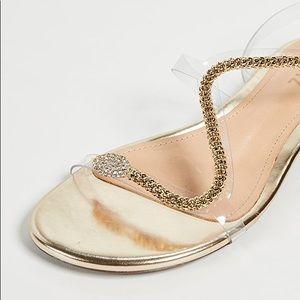 SCHUTZ Damika Platina Gold Flat Strappy Sandals